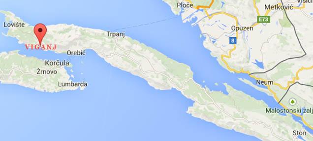 Viganj Map